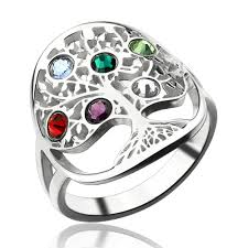 mothers day rings with birthstones personalized family tree birthstone ring mothers day gift mothers