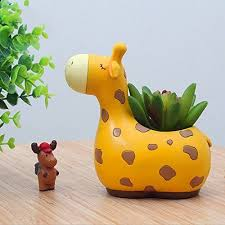 messagee cute animal succulent pots with drainage resin mini