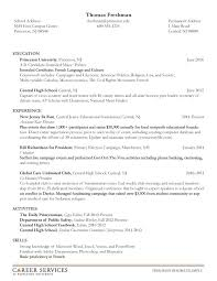 example of resume for student example of a student resume resume