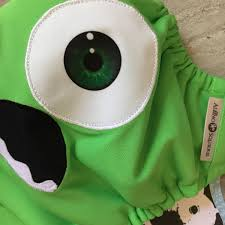 monsters inc mike halloween costumes monsters inc mike wazowski cloth diaper cover or pocket diaper
