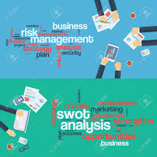 risk management concept swot analysis business background