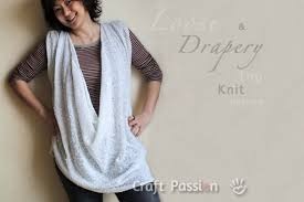 Draped Neckline Tops Loose Drapery Neckline Top Free Knit Pattern Craft Passion
