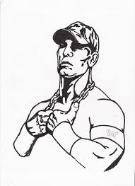 john cena coloring page coloring home