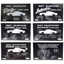 mustang 67 assembly manual kit 1967