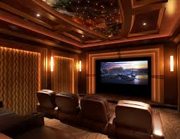 Custom Home Theater Rooms Media And Family Room Design In New Home Theatre Design