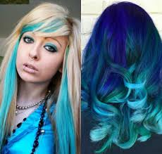 emo u0027s different unique hairstyle ideas in stylish blue color