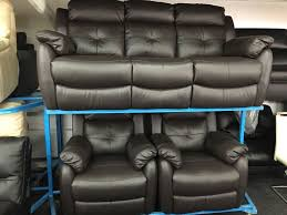 Lazy Boy Electric Recliners New Ex Display Lazyboy Electric Leather 3 Seater Recliner 2 X 1