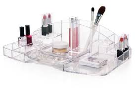 Hair And Makeup Organizer Amazon Com Clear Plastic Large Capacity Cosmetic Storage And