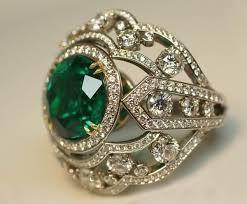 vintage emerald engagement rings emerald cut engagement rings