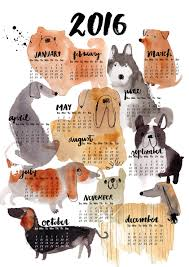 modern dog calendars for 2016 graphic design pinterest dog