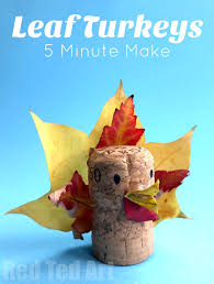 leaf turkey craft thanksgiving place cards ted s