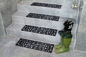 decorations perforated rubber non slip stair treads cover for