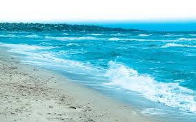 Color Of The Wind Beautiful Blue Color Of The Sea Water Waves In The Morning