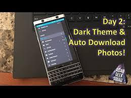 themes mobile black berry day 2 blackberry keyone dark theme bb hub and auto download