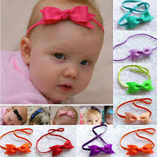 headband with bow fashion infant bow headbands baby girl flower headband children