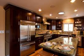 Black And Brown Kitchen Cabinets Improbable Center Island Brown Ideas Chen Center Black And