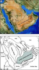 rub al khali map remote sensing of spatial variability in aeolian dune and