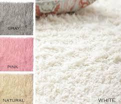 Pink And White Rug Flokati Shaggy Wool Shag Rug 3x5 4x6 5x7 6x9 8x10 9x12 White