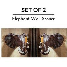 Wall Sconce Set Of 2 Design Toscano Elephant Wall Sconce Set Of 2 Ng930614 Ebay