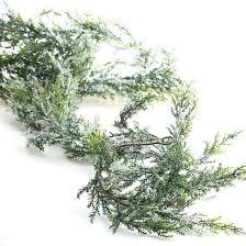 snowy artificial cedar garland florals and