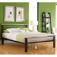 iron bed silver merlot finish contemporary design