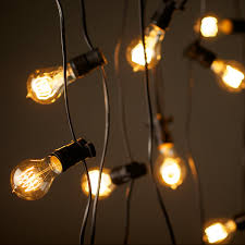 Outdoor Patio String Lights Led by Vintage Edison Party Lighting String Lights 240v 20m With 20