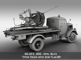opel blitz interior opel blitz with 2cm flak 38 3d cgtrader