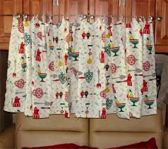 Fabric For Kitchen Curtains 1960s Curtains Retro Vintage Kitchen Decor 4 Panels Via Etsy
