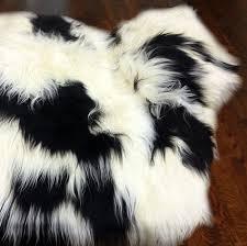 Lambskin Rugs Black And White Sheepskin Rug Roselawnlutheran