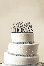 custom wedding cake toppers monogram wedding cake topper beautiful custom personalized