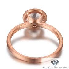 bezel ring bezel set cut morganite brushed gold engagement ring