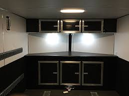 enclosed trailer led lights specialty trailers lightning cargo trailers