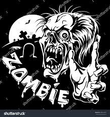 graveyard clipart black and white zombie outstretched hands on background graveyard stock vector