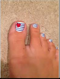 4th of july toe nail art easy way nail art with you in pictures