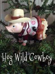 new decorated cowboy hat rodeo western tree ornament