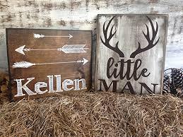 amazon com little man deer antler sign rustic nursery décor