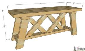 Free Plans For Outside Furniture by Double X Bench Plans Her Tool Belt