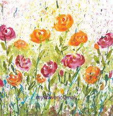 using flower photos for splattered paint art inspiration my