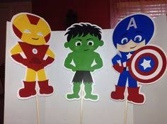 Superhero Centerpieces Instant Download Avengers Superhero Cupcake Toppers U0026 Wrappers