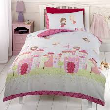 wall stickers art large fairy princess unicorn castle home deco fairy castle double duvet cover and pillowcase set