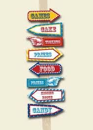 themed signs carnival party signs printable editable text pdf instant