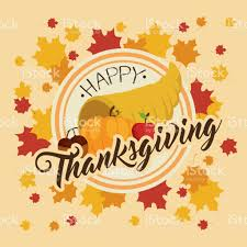 happy thanksgiving day greeting card stock vector more images