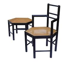 Really Cool Chairs Josef Hoffmann Style Hexagonal Chair U0026 Ottoman Set Chairish