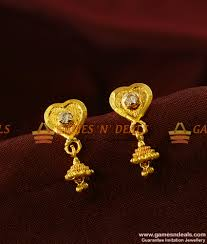 er388 design south indian daily wear ad small jhumki