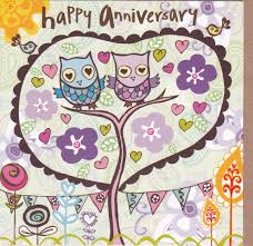 happy anniversary cards owls tree happy anniversary card karenza paperie