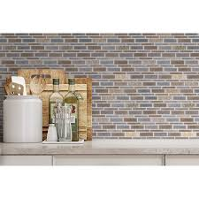 allen roth river bank linear mosaic porcelain slate wall tile