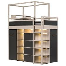 Kids Beds With Storage Underneath Spot Highsleeper Storage Kids Bed In Acacia Single Beds Cuckooland