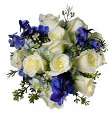 blue flowers for wedding blue and white wedding flowers 39s color scheme was white