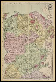 Map Of Wales Map Of Wales North East Circa 1897
