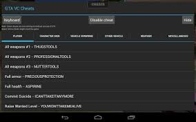 android cheats app 2 2 grand theft auto vice city cheats
